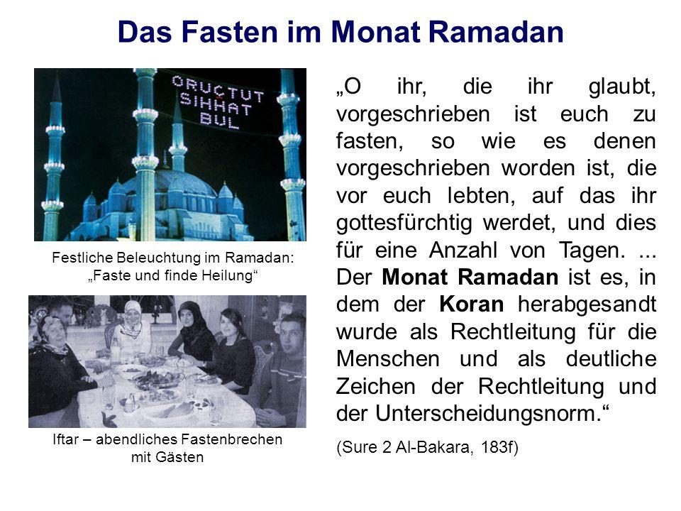 Das Fasten im Monat Ramadan