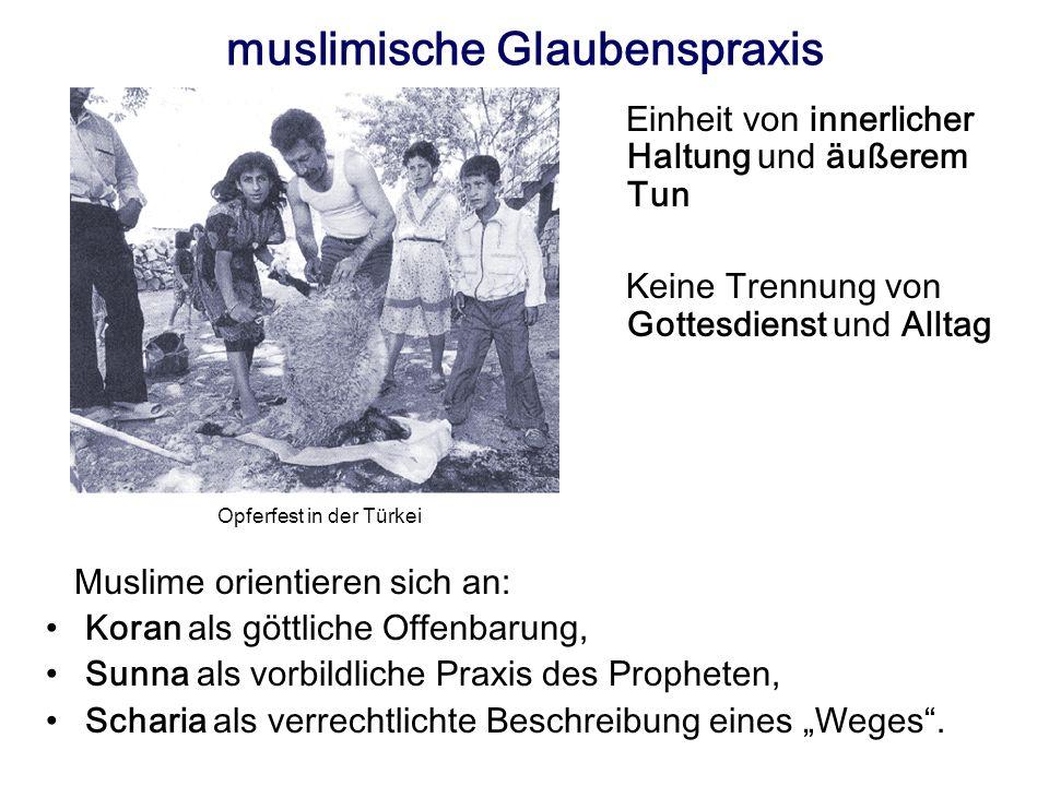 muslimische Glaubenspraxis
