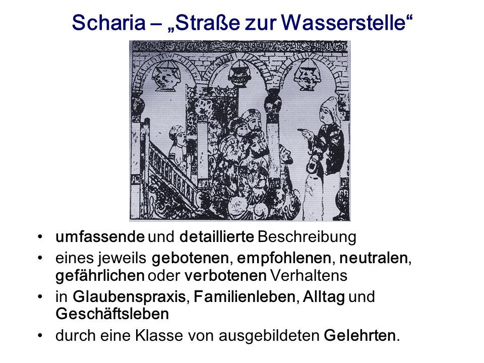 """Scharia – """"Straße zur Wasserstelle"""