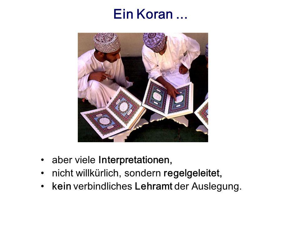 Ein Koran ... aber viele Interpretationen,