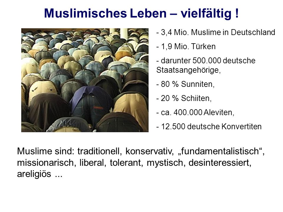 Muslimisches Leben – vielfältig !