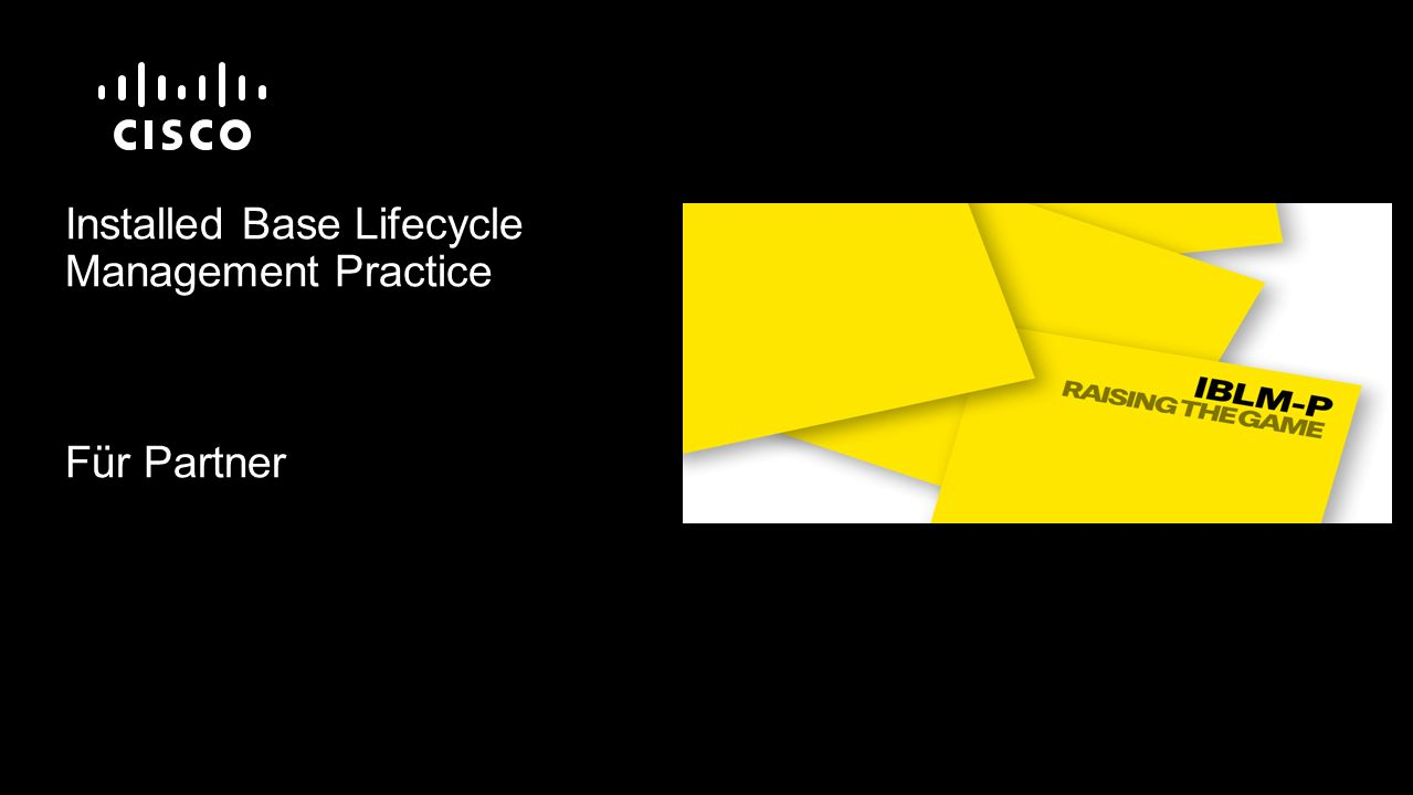 Installed Base Lifecycle Management Practice Für Partner