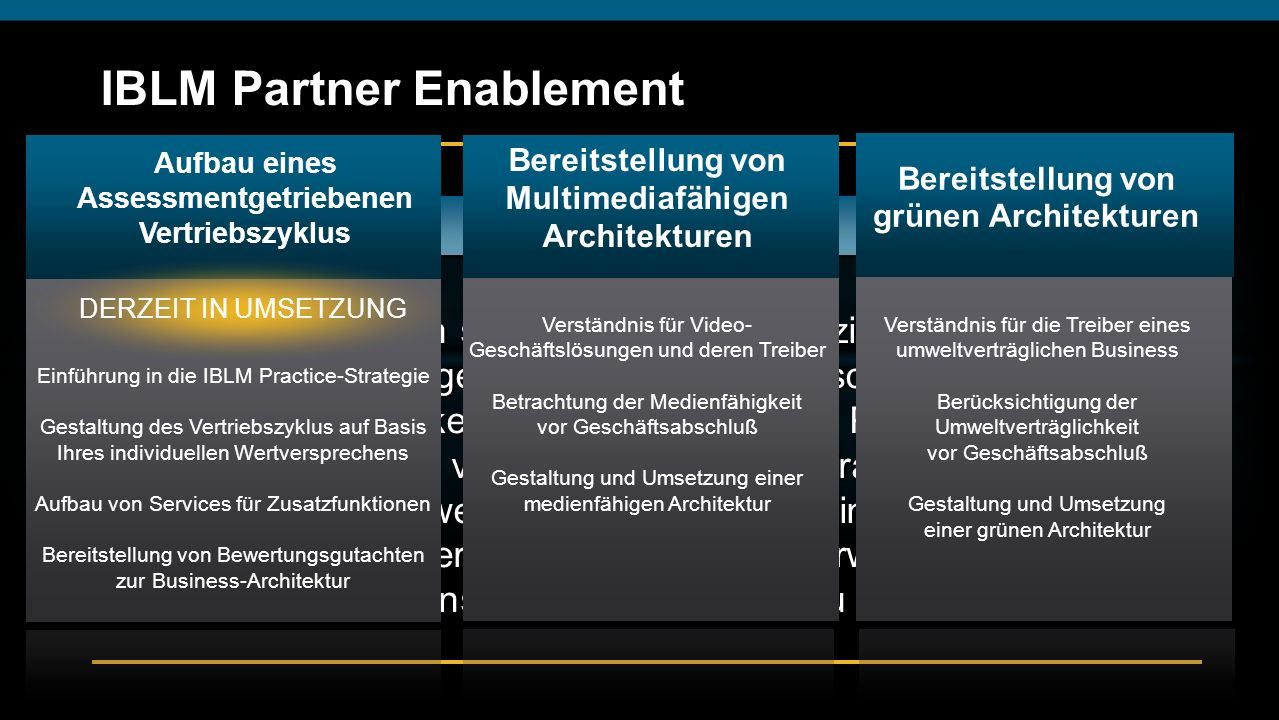 IBLM Partner Enablement