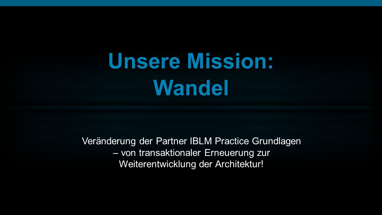 Unsere Mission: Wandel