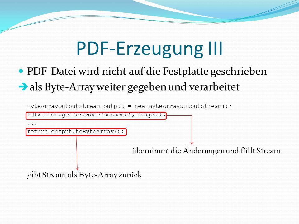 PDF-Erzeugung III PDF-Datei wird nicht auf die Festplatte geschrieben