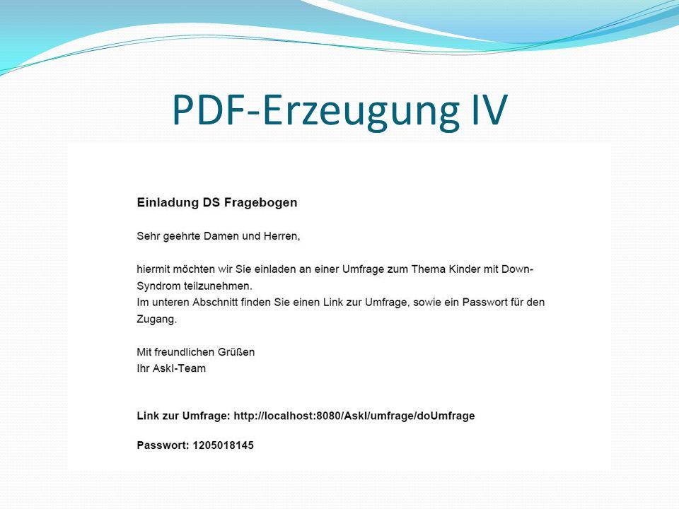 PDF-Erzeugung IV
