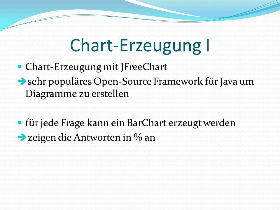 Chart-Erzeugung I Chart-Erzeugung mit JFreeChart