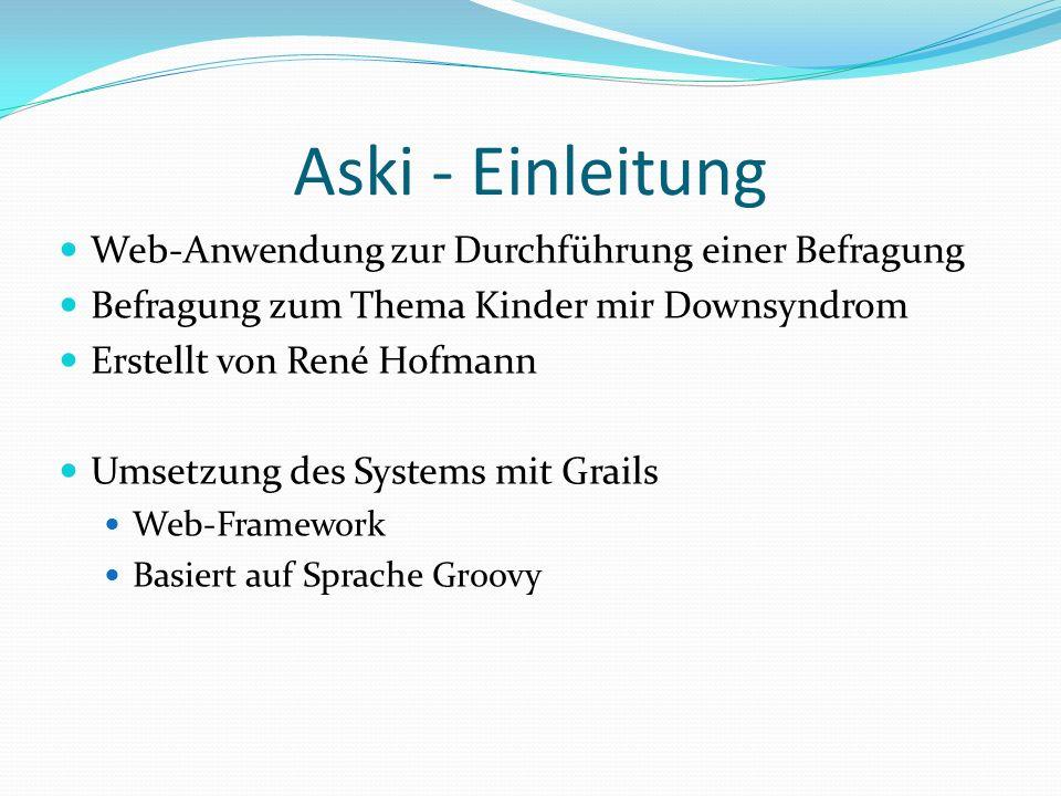 Aski - Einleitung Web-Anwendung zur Durchführung einer Befragung