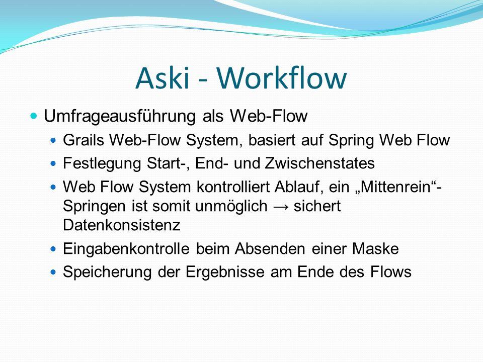 Aski - Workflow Umfrageausführung als Web-Flow