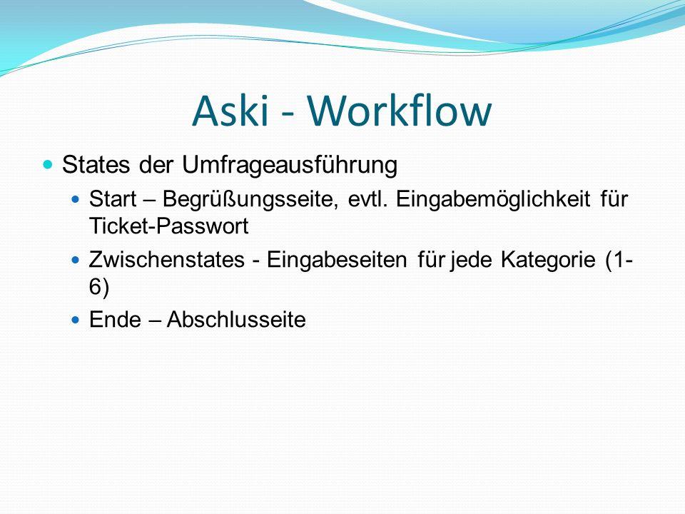 Aski - Workflow States der Umfrageausführung