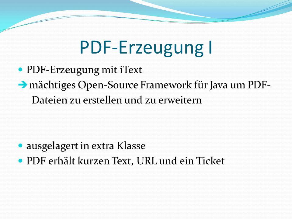 PDF-Erzeugung I PDF-Erzeugung mit iText