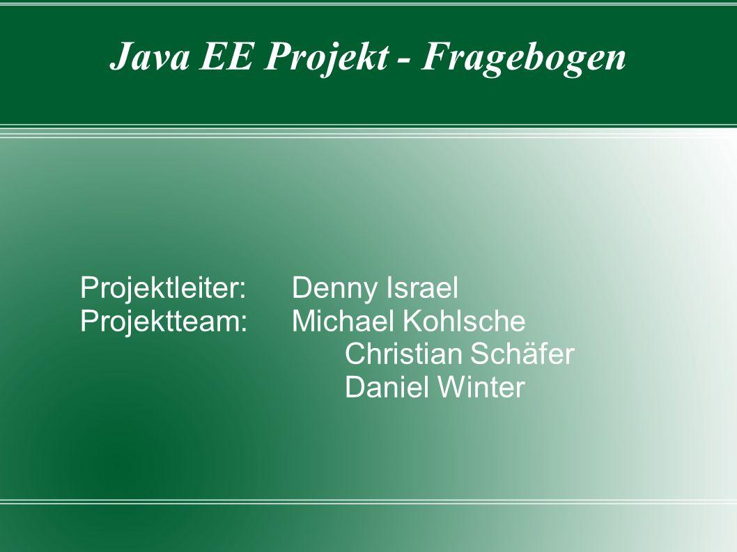 Java EE Projekt - Fragebogen