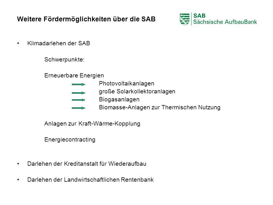 Weitere Fördermöglichkeiten über die SAB
