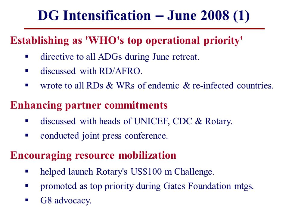 DG Intensification – June 2008 (1)