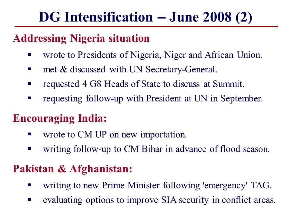 DG Intensification – June 2008 (2)