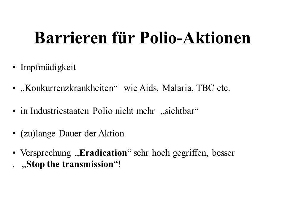 Barrieren für Polio-Aktionen