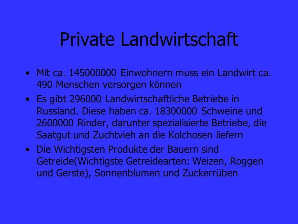 Private Landwirtschaft