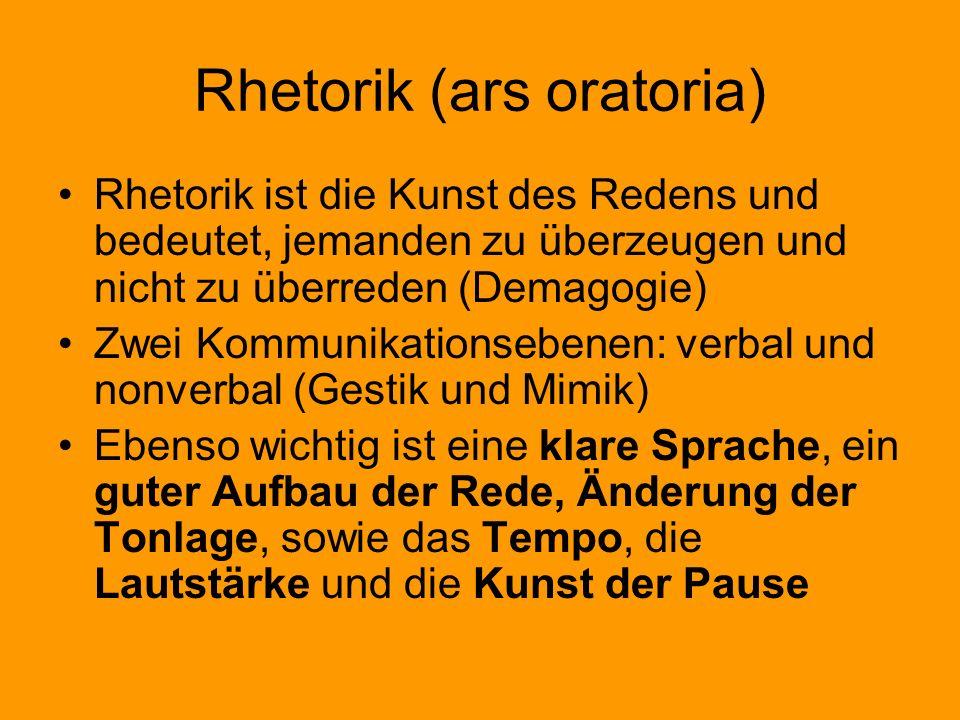 Rhetorik (ars oratoria)