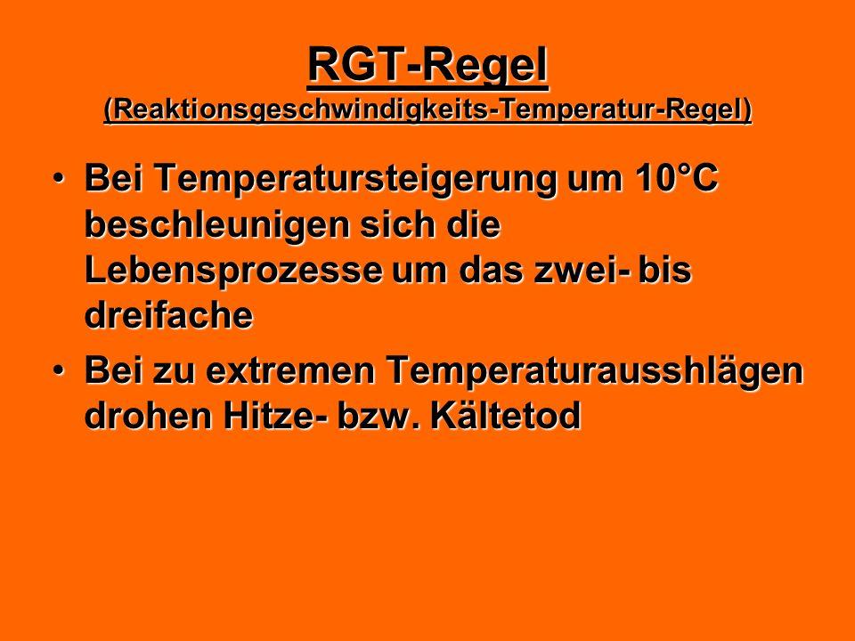 RGT-Regel (Reaktionsgeschwindigkeits-Temperatur-Regel)