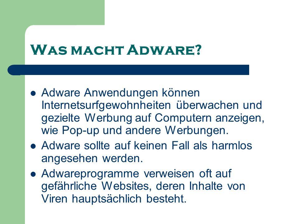 Was macht Adware