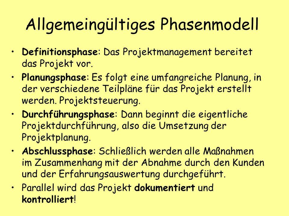 Allgemeingültiges Phasenmodell