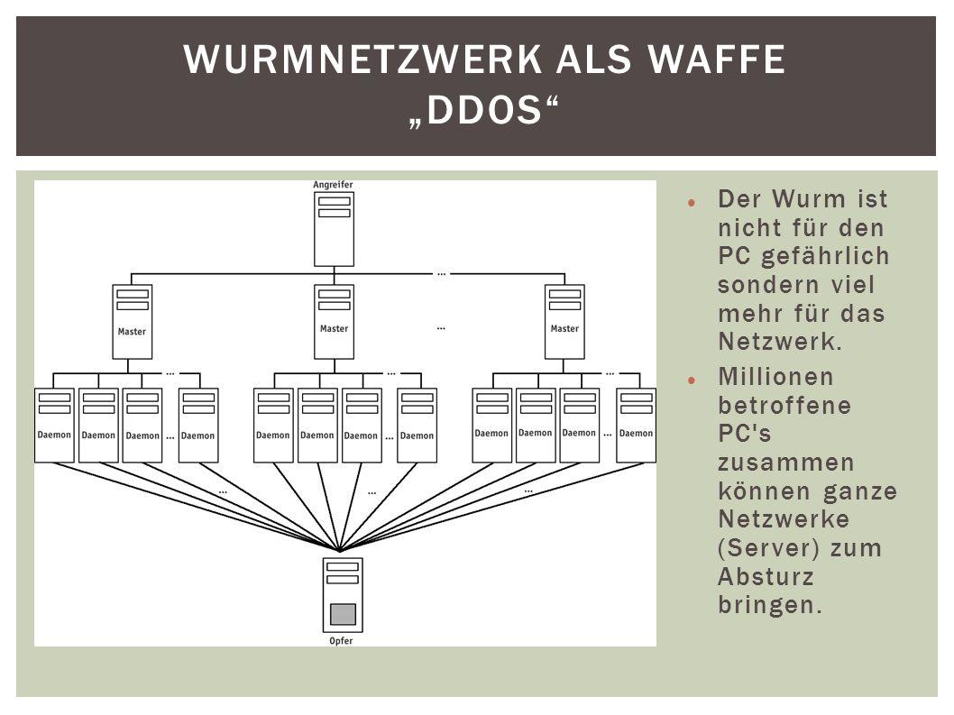 "Wurmnetzwerk als Waffe ""DDoS"