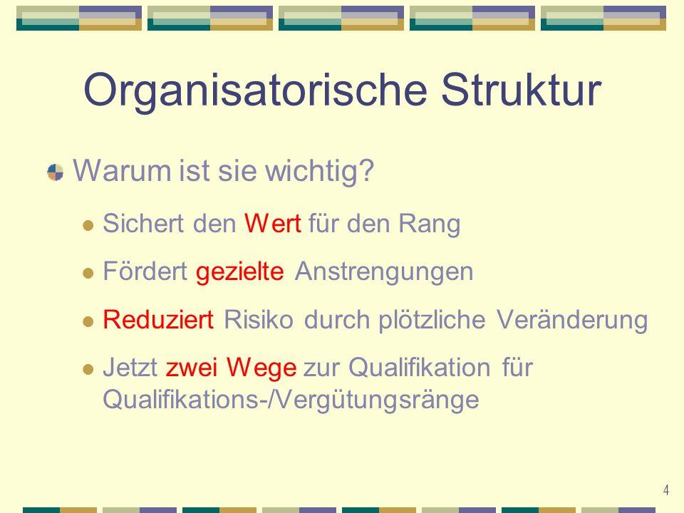 Organisatorische Struktur