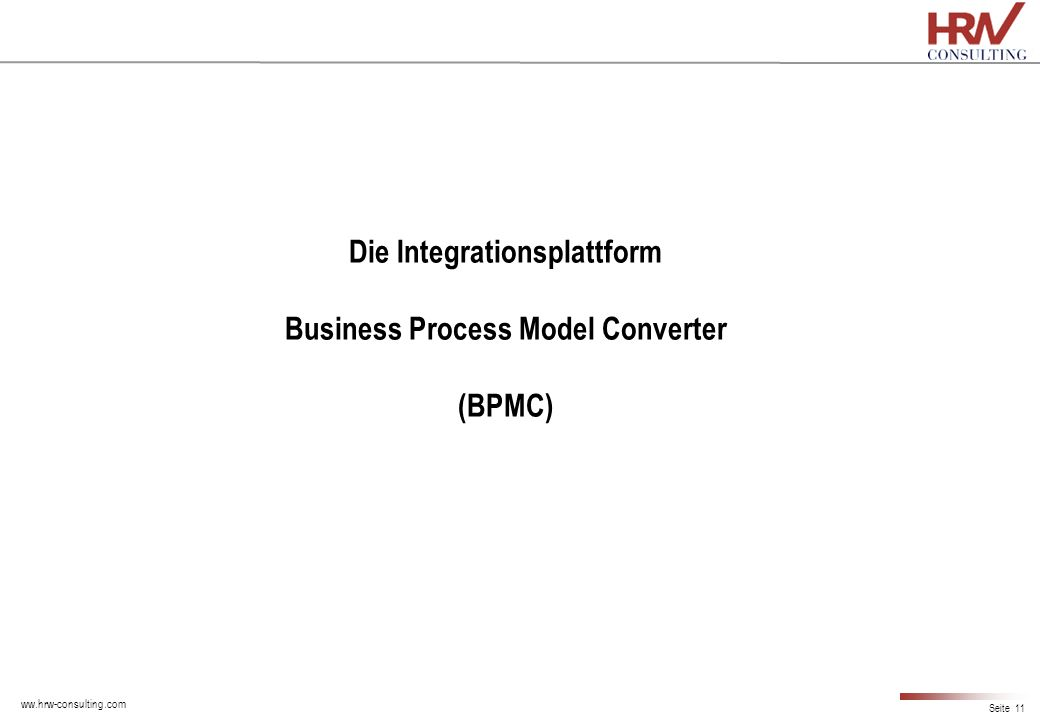 Die Integrationsplattform Business Process Model Converter (BPMC)