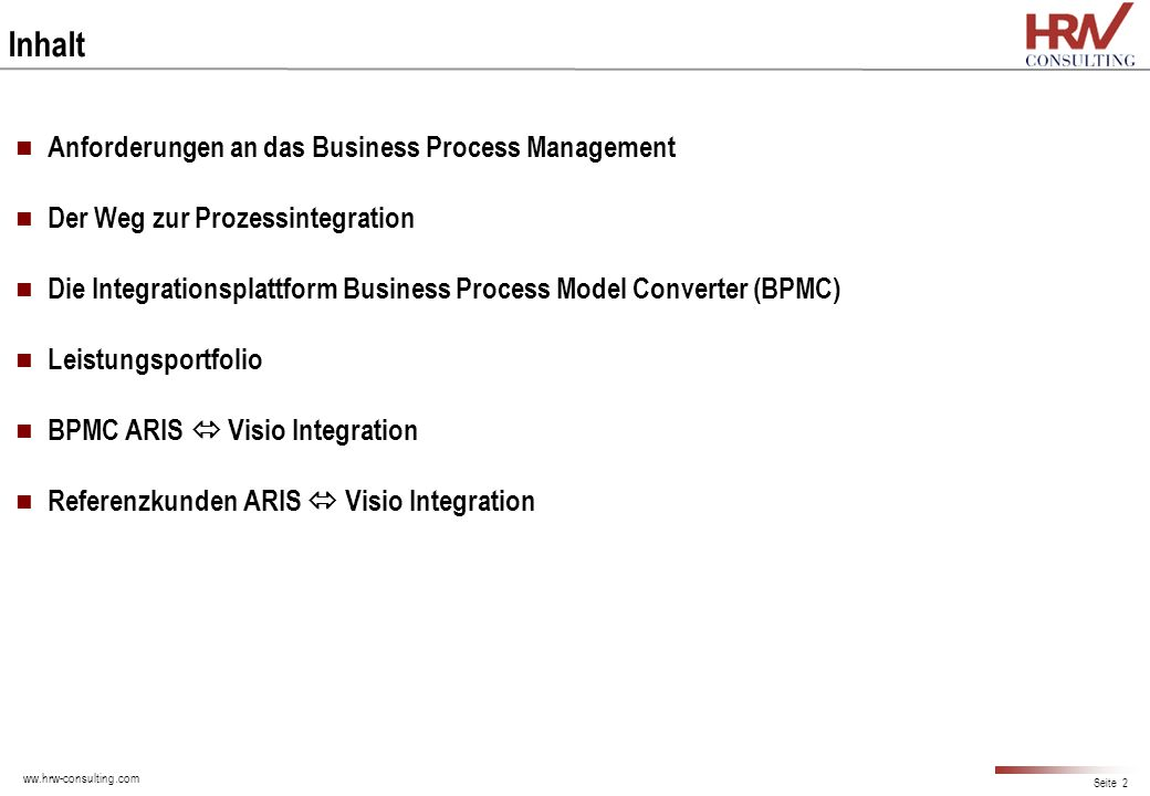 Inhalt Anforderungen an das Business Process Management