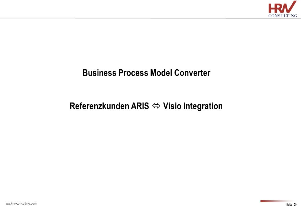 Business Process Model Converter Referenzkunden ARIS  Visio Integration