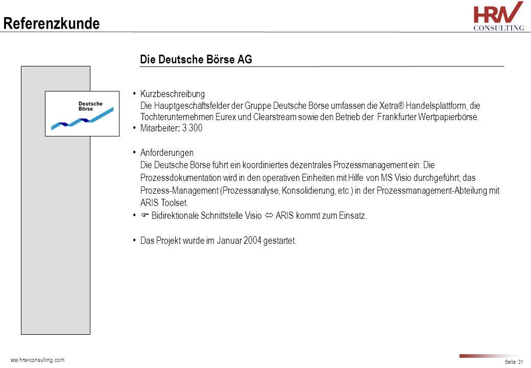 Referenzkunde Die Deutsche Börse AG