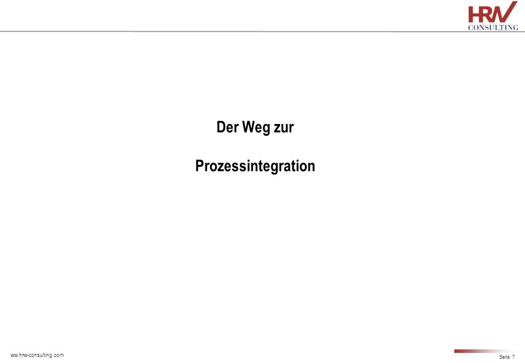 Der Weg zur Prozessintegration