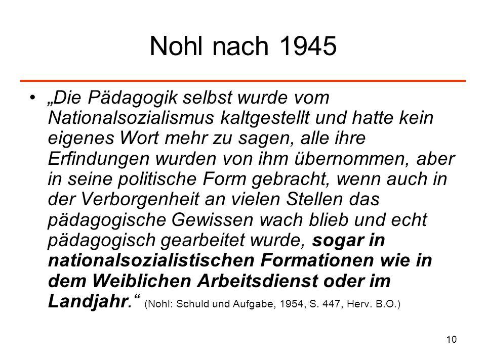 Nohl nach 1945