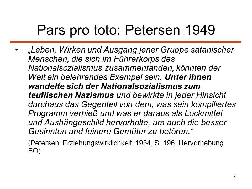 Pars pro toto: Petersen 1949