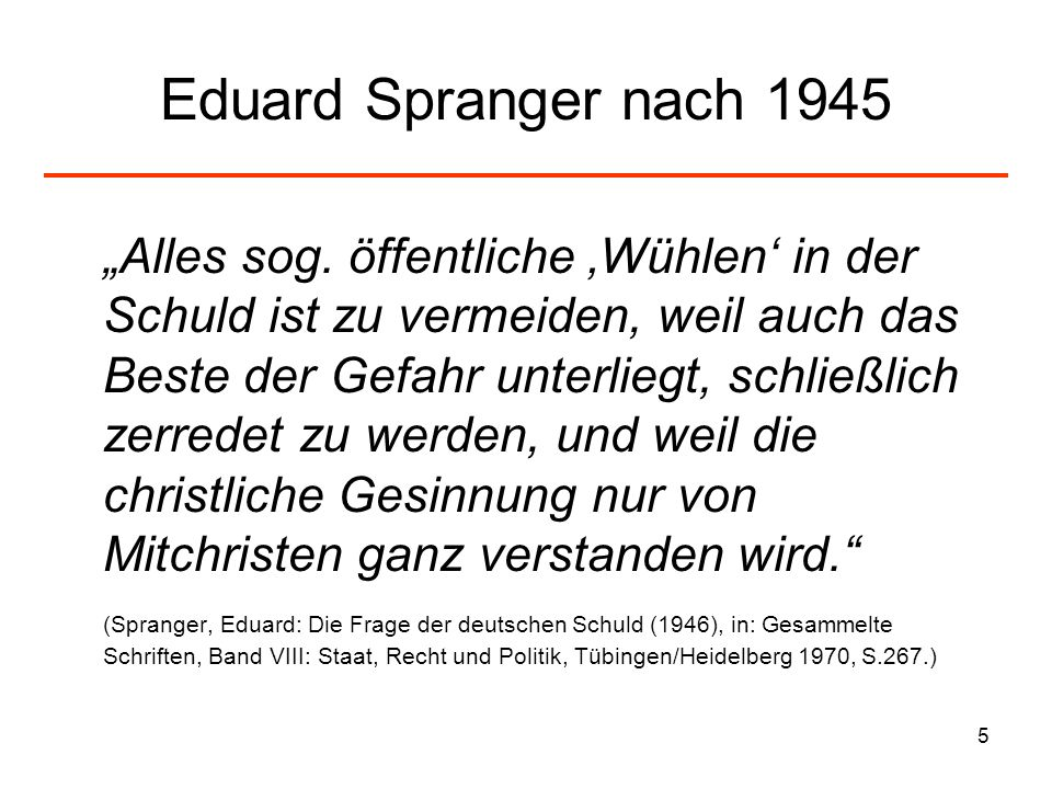 Eduard Spranger nach 1945