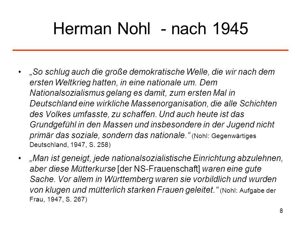 Herman Nohl - nach 1945