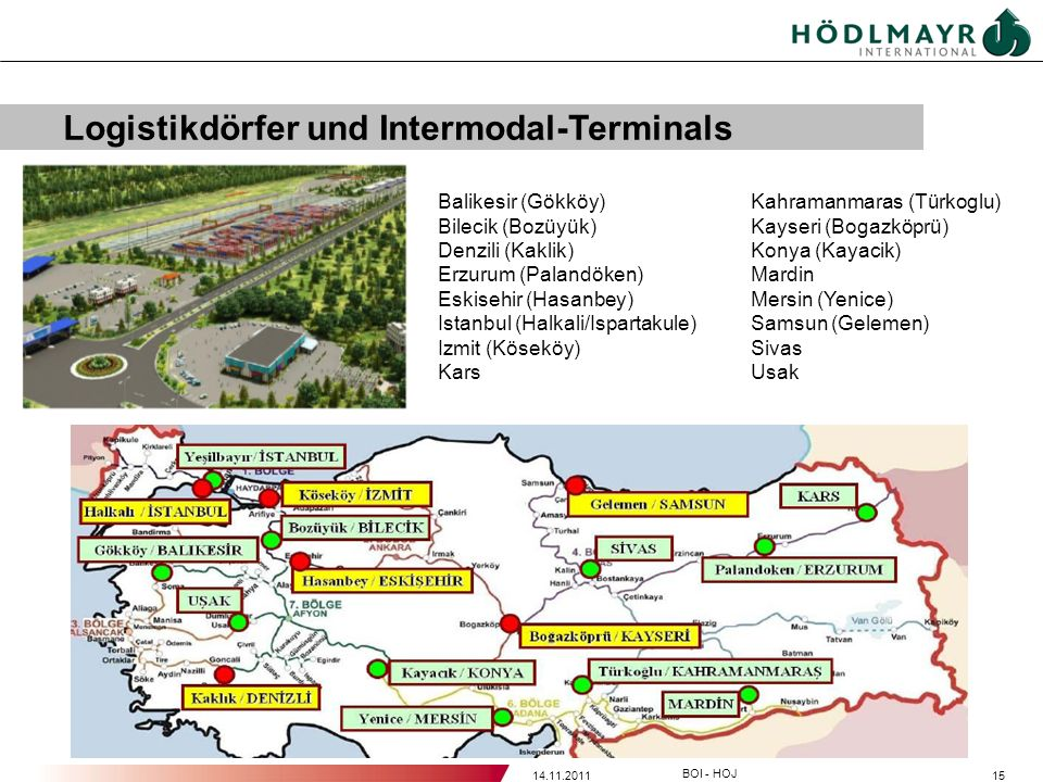 Logistikdörfer und Intermodal-Terminals