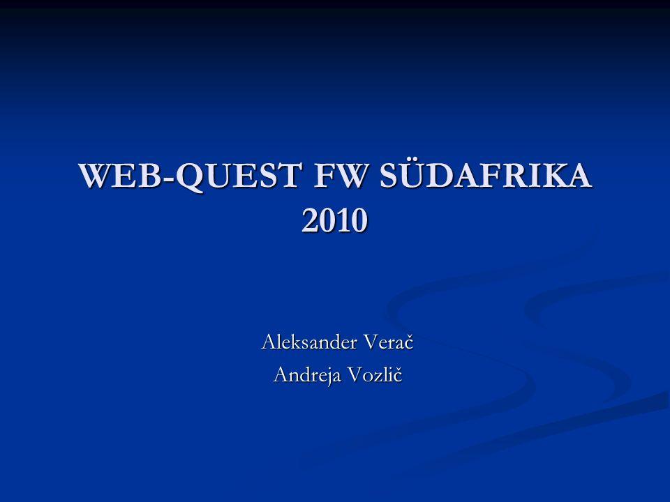 WEB-QUEST FW SÜDAFRIKA 2010