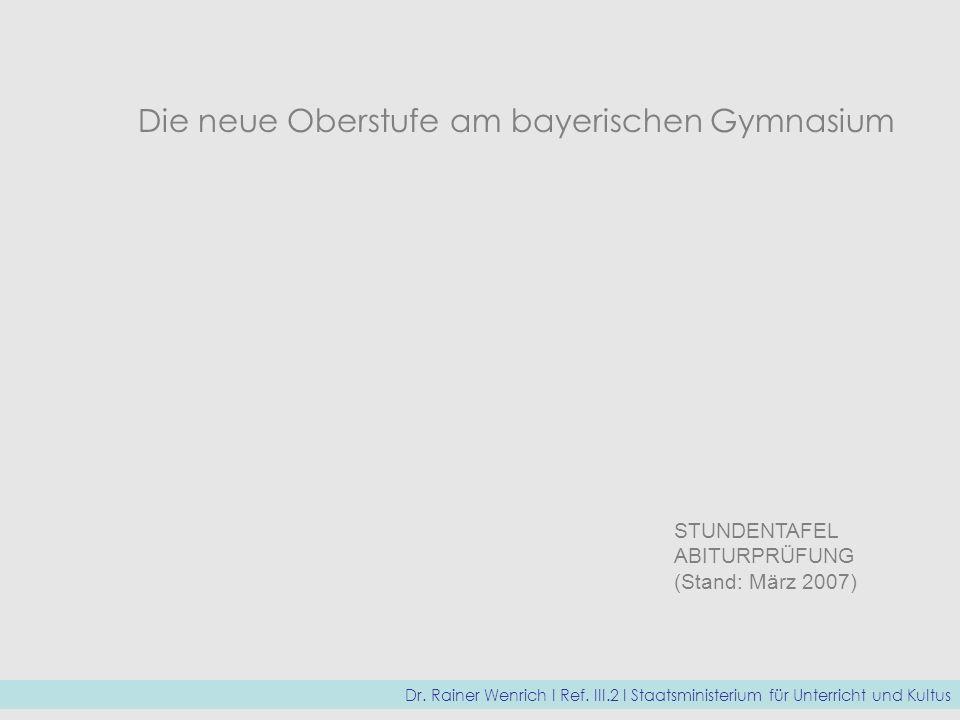 Die neue Oberstufe am bayerischen Gymnasium
