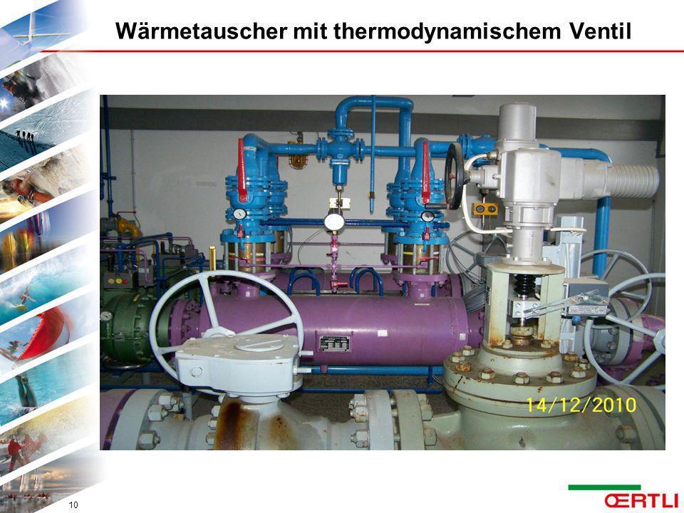 Wärmetauscher mit thermodynamischem Ventil