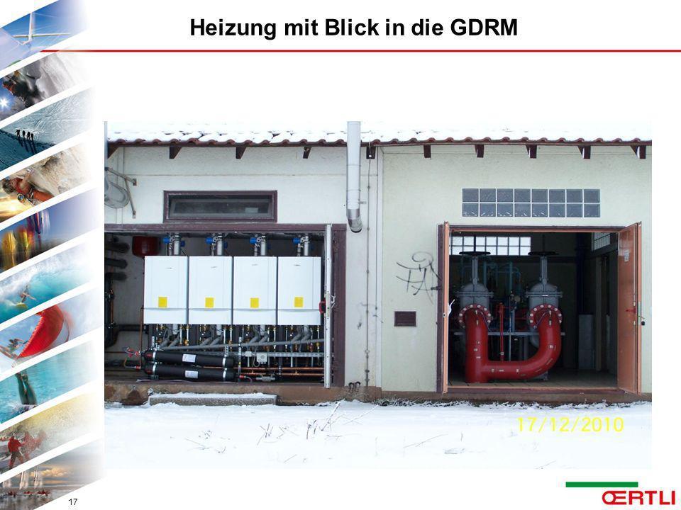 Heizung mit Blick in die GDRM