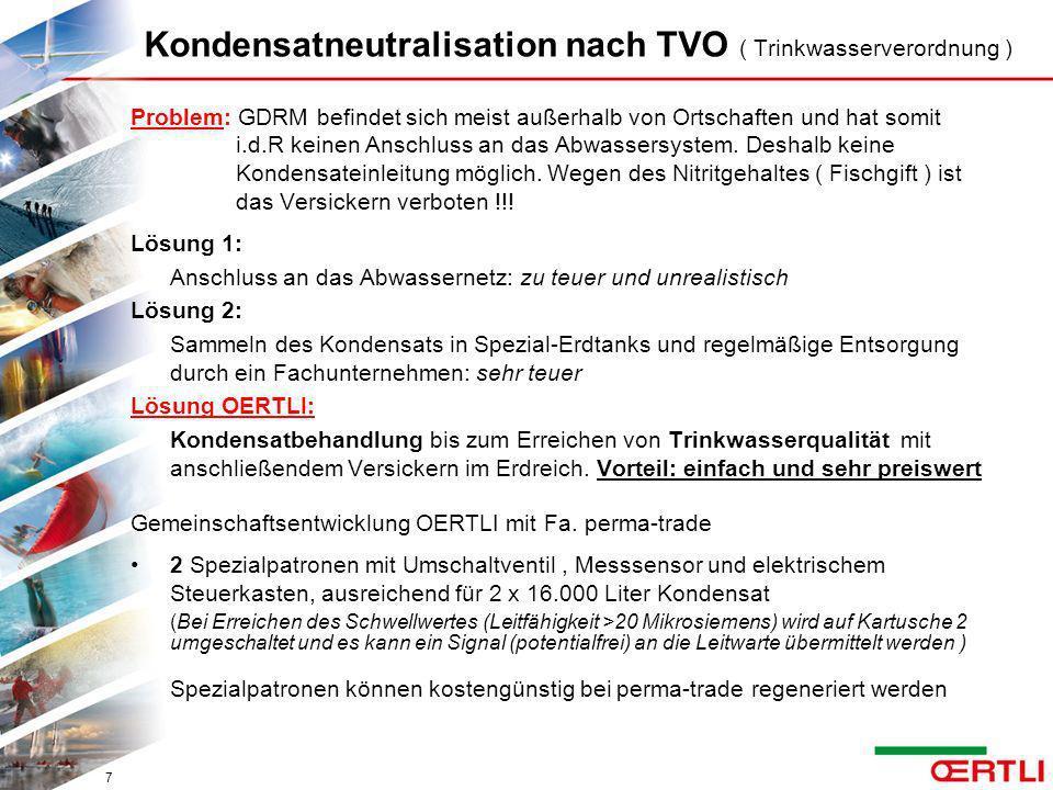 Kondensatneutralisation nach TVO ( Trinkwasserverordnung )