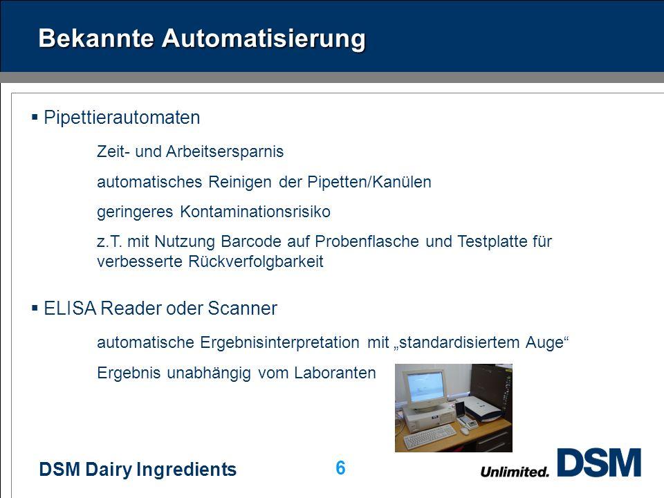 Bekannte Automatisierung
