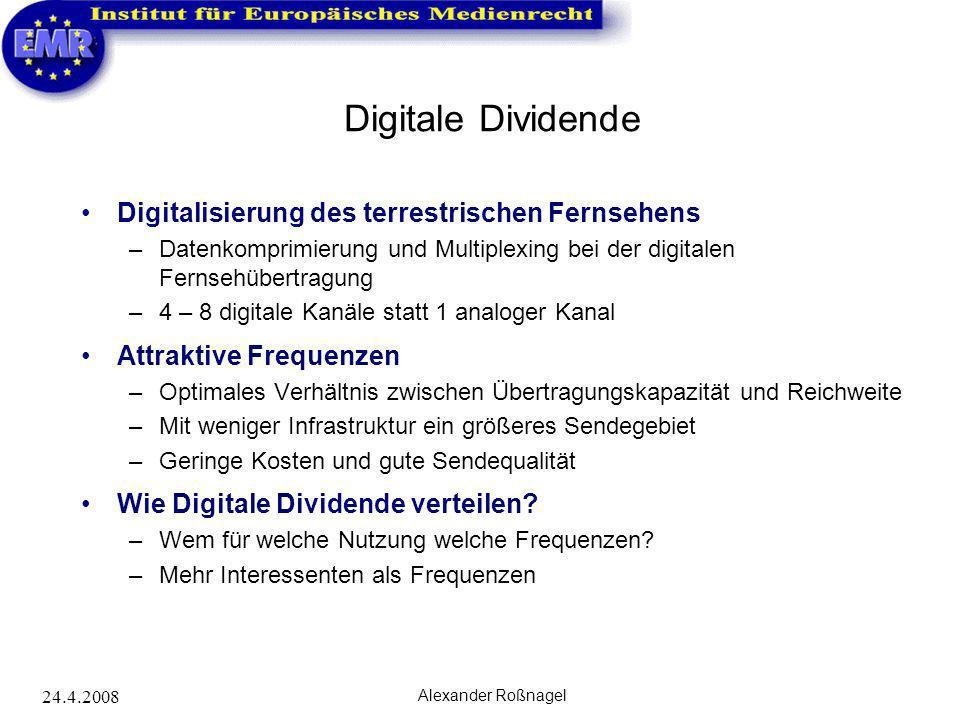 Digitale Dividende Digitalisierung des terrestrischen Fernsehens