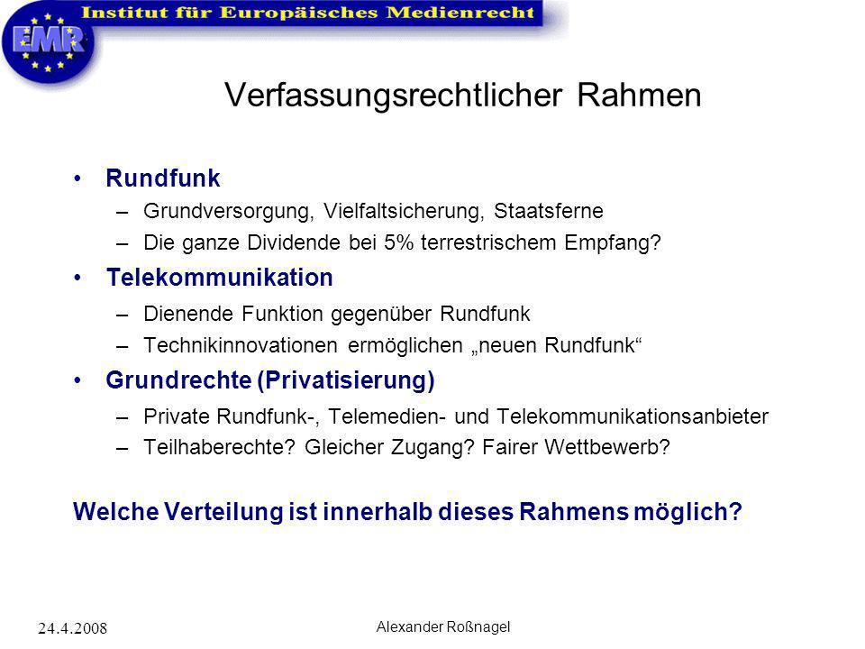 Verfassungsrechtlicher Rahmen