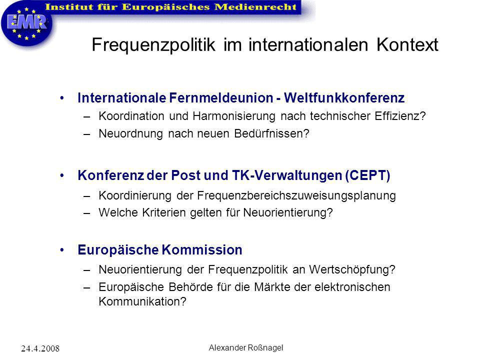 Frequenzpolitik im internationalen Kontext