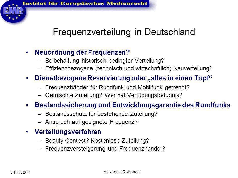 Frequenzverteilung in Deutschland