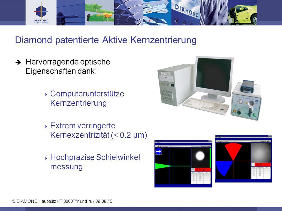 Diamond patentierte Aktive Kernzentrierung
