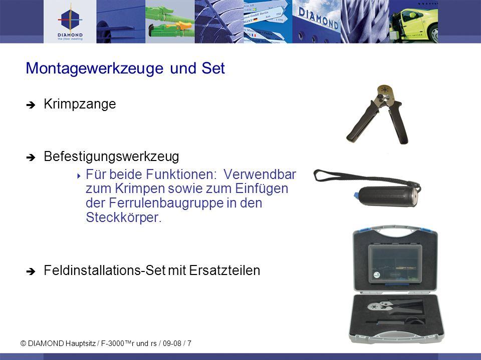 Montagewerkzeuge und Set