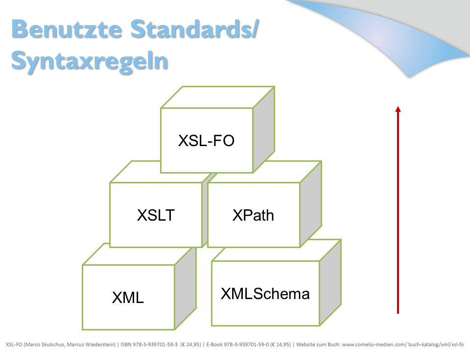 Benutzte Standards/ Syntaxregeln